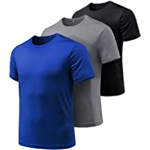 BingYELH Mens Athletic T-Shirt Workout Sports Tech Short Sleeve tee Shirts Gym Dri Fit Training Clothes