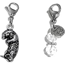 18 or 20 inch Rope Box or Curb Chain Necklace Rembrandt Charms Sterling Silver Monterey Sea Otter Charm on a 16