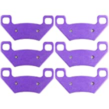 AUTOMUTO Front and Rear Carbon fiber Brake Pads Compatible for 2009-2014 Arctic Cat 1000 2005-2009 Arctic Cat 250 2005 Arctic Cat 300 2012 Arctic Cat 350