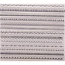 Yevison Clear Silicone Stamp Sheet Printing Scrapbooking Embossing Stamper Transparent Cling Seal for DIY Scrapbook Photo Albums Paper Notebook Card Making Arts Crafts Supplies Brick Wall Durable and Useful