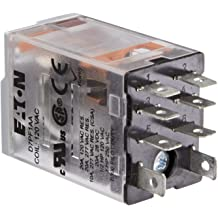 DPDT Contact Configuration 120VAC Coil Voltage 15A Rated Current 3.83ohm Coil Resistance Eaton D7PF2AA General Purpose Relay