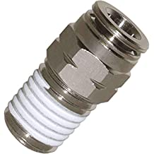 mxuteuk 5pcs Push to Connect Tube Fittings Pneumatic Male Straight 1//4 Tube OD x 3//8 NPT Thread PC-1//4-03