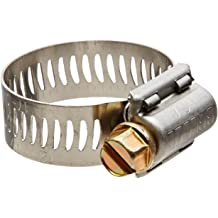 11//16 to 1-1//4 Diameter Range Breeze 63012H Marine Grade Power-Seal Stainless Steel Hose Clamp SAE Size 12 1//2 Band Width Worm-Drive Pack of 10