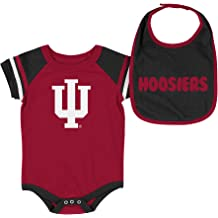 b480a670 Colosseum NCAA-Roll Out- Baby Short Sleeve Bodysuit and Matching Bib 2-Pack