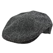 b79ab956c03ac Irish Hats for Men John Hanly Wool Grey Herringbone Made in Ireland Large