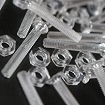slotted+knurled M3 x 20mm Pack of 60 Transparent Clear Plastic Acrylic Thumbscrews 1//8 x 25//32