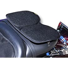 Metal Stand amopa Black Synthetic Leather Rear Passenger Backrest Hardware Compatible with Victory 4 Mouting Hole Models