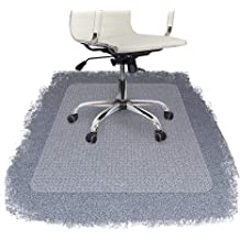 1.5//2 // 3 mm Thickness Office Chair Mat for Carpets Color : Thick3mm, Size : 90x90cm Home Desk Chairs Floor Protector Translucent Frosted Rectangle