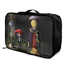A-ssa-ssin-ation Cla-ssr-oom Personalize Design Waterproof Portable Trolley Handle Luggage Bag Travel Bag