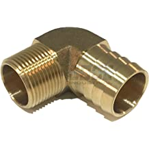 EDGE INDUSTRIAL 1 Hose ID to 1 Male BSP BSPT Straight Brass Fitting Fuel//AIR//Water//Oil//Gas//WOG