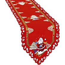 14 /× 105 Inch Dresser Scarves Simhomsen Easter Bunny Table Runners Applique Embroidered Colorful Eggs