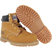 Light Pink 10M Safety Girl GS002 Nubuck Leather Steel Toe Water Resistant Womens Work Boot 6 Height