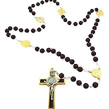 Blue xinhuida Plastic Rosary 17 Luminous in The Dark Rosary Imported from Italy 12 Rosary Set