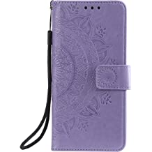LOHHA080378 Grey Shockproof Flip Case Cover for Samsung Galaxy A20S Lomogo Leather Wallet Case for Galaxy A20S with Stand Feature Card Holder Magnetic Closure