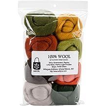 Taiguang Soft Woolen Fiber Roving Top Spinning Wheel Felting Fleece Handcrafts Fill Yarn White