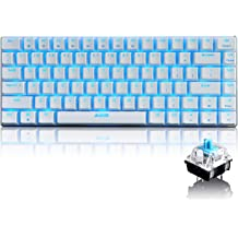 Color : Black, Size : One Size Canyixiu-home 81 Key USB Wired RGB Backlit Outemu Blue Switch Mechanical Gaming Keyboard