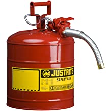 1 x 1 x 15.88 Justrite 9100 6 Gallon Red Galvanized Steel Oily Waste Can with Foot Lever Opening Device Plastic