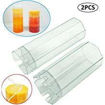 soap Resin Beeswax Fityle Plastic Square Cube and Cylinder Hollow Plastic Candle Molds DIY Candle Crafts Tools fit for Paraffin Clay Wax