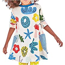 Toddler Girls Strappy Cartoon Printed Sleeveless Pageant Party Dresses Inkach Baby Princess Dress