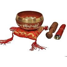 With Traditional Design Tibetan Buddhist Prayer Flag Tibetan Singing Bowl Set By Dharma Store Green Handmade in Nepal