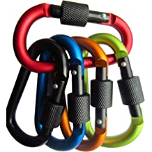 LeBeila 8 Shape Carabiner Aluminum Alloy Rope Buckle S Style Snap Clip Hook Keychain for Climbing 5 PCS Hiking Camping and Outdoor Livings