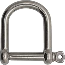 Extreme Max Silver Standard 3006.8372 BoatTector Stainless Steel Bolt-Type Anchor Shackle-3//8