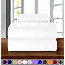 Black Elegant Comfort /™ Premium Hotel 1-Piece Twin//Twin XL Wrinkle and Fade Resistant Luxury /& Softest 1500 Thread Count Egyptian Quality Bedding Fitted Sheet Deep Pocket up to 16inch
