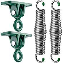 Perfect Hanging Chairs KONGARO Porch Swing Hanging Kit Mounting Bolts are Not Included Heavy Duty Cast Iron Mounts - Up to 1,000 lbs - 2 2 Porch Swings 8 Springs Hammock Chairs