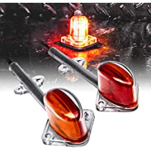 Trailer Clearance Marker Lights for Boat Utility Trailer Hauler Car Red LED Trailer Fender Light Set SAE P2 IP67 Waterproof DOT Compliant 2pc 5 Amber