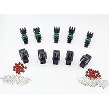 CNKF 10 Sets 2 way female Tyco sensor auto plug includes terminals and seals for BWM Porsche benz 968405-1
