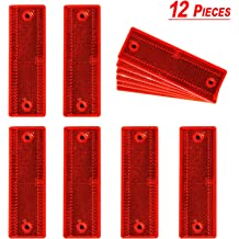 2Pcs 4.2 Inch Round Warning Safety Reflectors for Container Truck Van Trailers Red//Adhesive