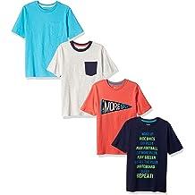 82047f608 Amazon Brand - Spotted Zebra Boys  39  4-Pack Short-Sleeve T