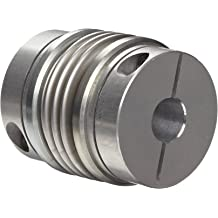 1.313 OD Clamp Style Ruland BC21-10-10-A 2024 or 7075 Aluminum Hubs Bellows Coupling 0.625 x 0.625 Bores