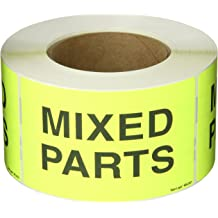 Fluorescent Red 3 x 5 1 Roll of 500 Labels Tape Logic TLDL2541 Labels,Additional Parts Inside