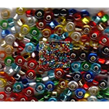 Jablonex Czech Seed Beads Mix 1-Ounce Size 6//0 Rainbow Matte Clear Multi Colored