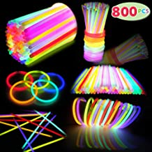 Party Suppliers and Favors for Christmas Halloween New Year Eve from KD KIDPAR Birthday Gift Basket Stuffers 240 Pcs Mini Glow Sticks Bulk in 6 Colors Glow-in-the-Dark Toy Easter Eggs Fillers for Kids