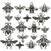 Honeybee Charms Pendants Crafting for DIY Necklace Bracelet Earrings Monrocco 20 Pieces Enamel Bee Charm Pendants with Rhinestone