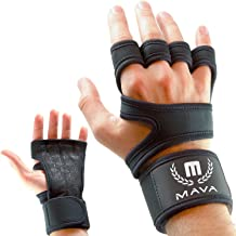e9935e40a2556 Mava Sports Cross Training Gloves with Wrist Support for Fitness, WOD,  Weightlifting, Gym Workout & Powerlifting - Silicone Padding, no .