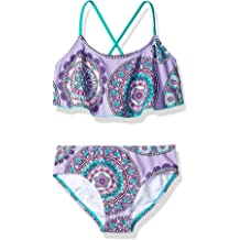 97ff017748e2c Kanu Surf Girls' Alania Flounce Bikini Beach Sport 2-Piece Swimsuit