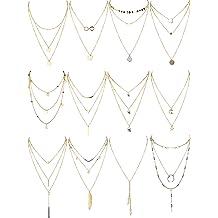TFJ Women Gold Metal Chain Fancy Fashion Jewelry Necklace Big Cross Pendant Bling Charm