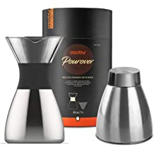 742107eb61 Asobu Silver Insulated Pour Over Coffee Maker (32 oz.) Double-Wall Vacuum