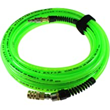 1//4 Reusable Strain Relief MPT Swivel Fittings 1//4 ID Coilhose Pneumatics PUE14-15B-T Flexeel Reinforced Polyurethane Coiled Air Hose Transparent Blue 1//4 ID 15/' Length with 2 1//4 Reusable Strain Relief MPT Swivel Fittings 15 Length with 2