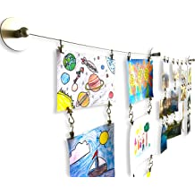 Stainless Steel Photo Hanging Wire Clothesline Wire Window Curtain Tension Wire Multi-Purpose Crafts Organizer 5 Meter OOTSR Wall Mount Children/'s Art Projects Display Curtain Wire Rod Set