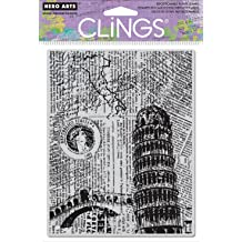 Italy Background Hero Arts Cling Stamp