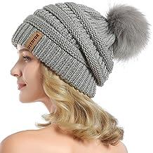 YANIBEST Adult Wool Baggy Knitted Skull Slouch Beanie Hat Women
