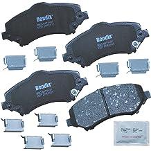 with Installation Hardware Rear Bendix CFC1093 Premium Copper Free Ceramic Brake Pad