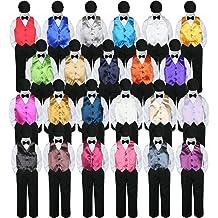 3pc Baby Boys Toddler Formal Royal Blue Necktie Navy Dark Khaki Shorts Set Sm-4T