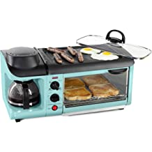 66854bc1e4a Nostalgia BSET300AQ Retro 3-in-1 Family Size Breakfast Station Aqua