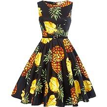 89864854593c5 GRACE KARIN Boatneck Sleeveless Vintage Tea Dress with Belt