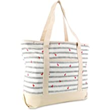 """483af9e56c DALIX 22"""" Shopping Tote Bag in Heavy Cotton Canvas (Zippered Top)"""